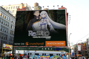 Re:Zero on the Billboard