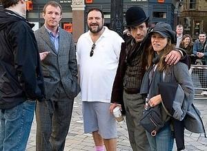 Robert Downey Jr and Susan Downey on set of Sherlock Holmes (2009)