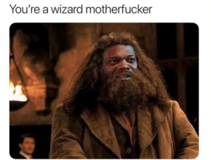 Samuel J. Jackson as Hagrid