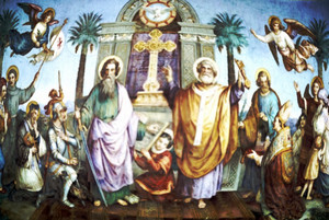 St. Paul and St. Peter, Apostles and Martyrs, Disciples of যীশু Christ (Full-size View)
