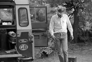 Steve McQueen on a camping trip (1963)