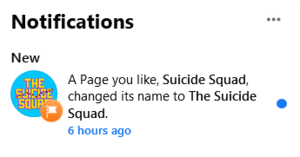 Suicide Squad becomes The Suicide Squad on フェイスブック
