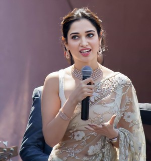 Tamannaah Bhatia sexy in transparent saree