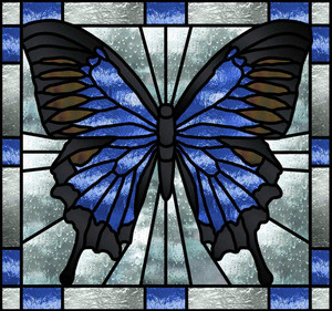 The Beauty of Stained Glass Art (Memengwaa / Butterfly)