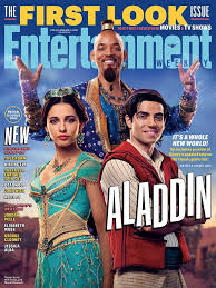 The Cast Of aladdín On The Cover Of Entertainment