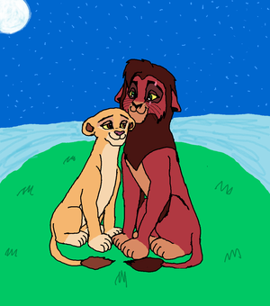 The Lion King Kiara and Kovu are Queen and King of the Pride Lands
