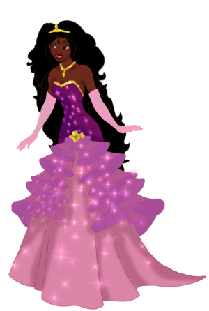 Tiana with long hair