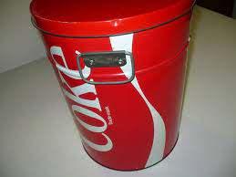 Vintage Coca Cola Metal Beverage koeler, koelwagen Tin