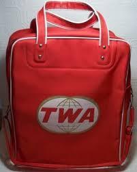 Vintage TWA Flight Attendant Bag