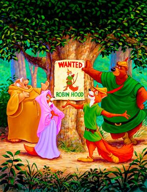 Walt ডিজনি Posters - Robin ঘোমটা