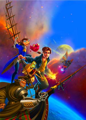 Walt 디즈니 Posters - Treasure Planet
