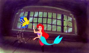Walt ডিজনি Production Cels - রাঘববোয়াল & Princess Ariel