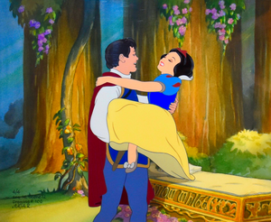 Walt Disney Production Cels - The Prince & Princess Snow White