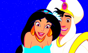 Walt Disney Screencaps - Princess gelsomino & Prince Aladdin