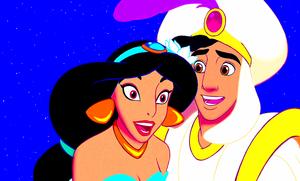Walt Disney Screencaps - Princess hoa nhài & Prince Aladdin và cây đèn thần