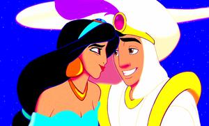 Walt Дисней Screencaps - Princess жасмин & Prince Аладдин