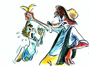 Walt Disney Sketches - Br'er Rabbit & Br'er Fox