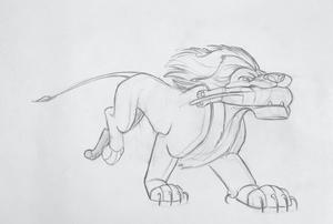 Walt disney Sketches - Mufasa & Simba