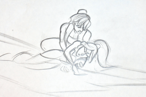 Walt Disney Sketches - Prince Aladin & Princess jasmin