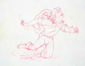 Walt Disney Sketches - Princess Ariel & Prince Eric
