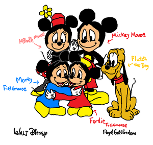 Walt Disney's Mickey Finally Brought Ferdie and Bring back to Morty. with Minnie and Pluto.