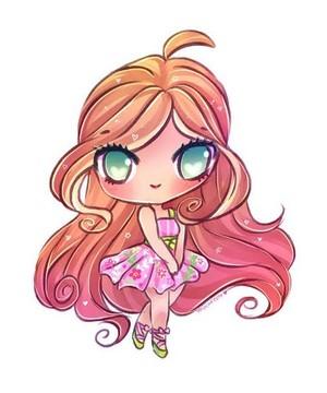 Winx Club Flora anime (chibbi)