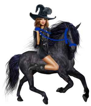 Witch riding an Beautiful Horse