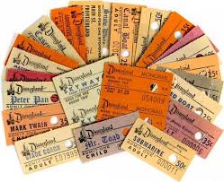 Disneyland Ticket Stubs 1960s