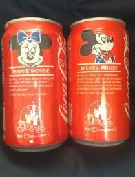 Minnie And Mickey rato Commerative Coca Cola Cans