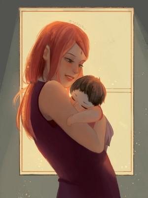 sakura and baby sarada