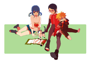 sarada and boruto and yuina