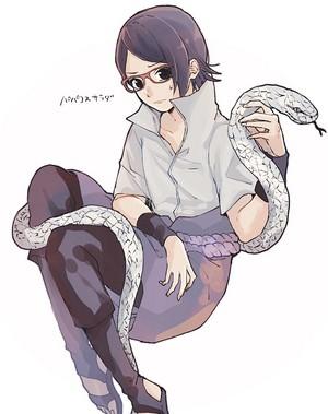 sarada with sasuke costume