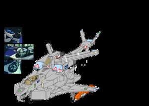 "( Fixed wing Fighter mode ) Auroran (a.k.a. ""AGAC"" ) , alternate transformation"