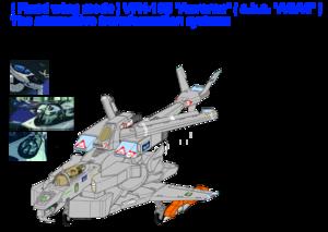 "1-B . ( Fixed winged Fighter mode ) VFH-10B Auroran (a.k.a. ""AGAC"" ) , alternative transformation"