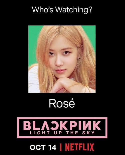 BLACKPINK 'Light up the Sky' Official Poster Rose || Netflix