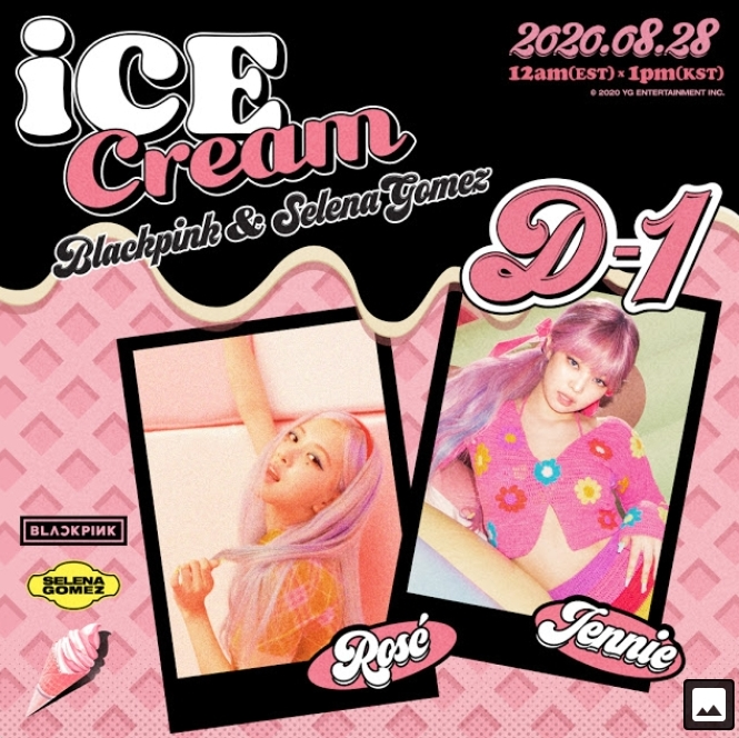 Blackpink X Selena Gomez Ice Cream D 1 Poster Black Pink Photo 43505292 Fanpop
