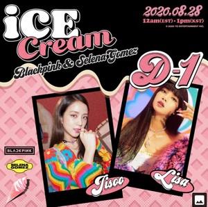 BLACKPINK X SELENA GOMEZ - 'Ice cream' D-1 Poster
