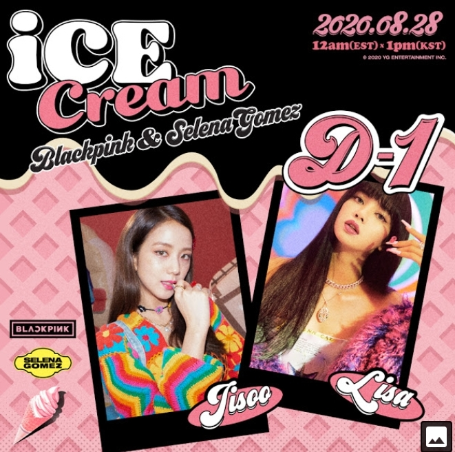 Blackpink X Selena Gomez Ice Cream D 1 Poster Black Pink Photo 43505293 Fanpop