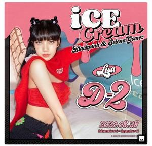 BLACKPINK X SELENA GOMEZ - 'Ice cream' D-2 Poster