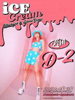 BLACKPINK X Selena Gomez 'ice cream' D-2 poster (Lisa)
