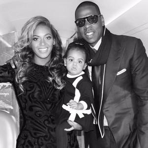 Beyonce, Blue Ivy and сойка, джей Z