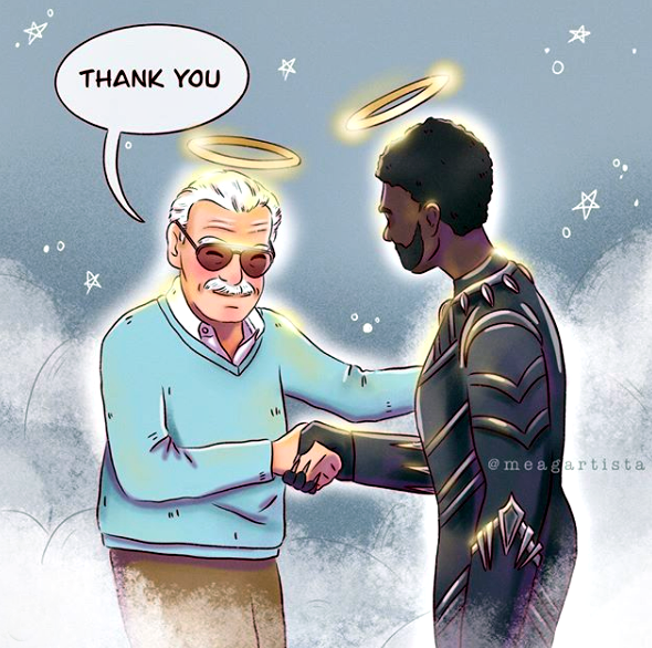 Chadwick Boseman and Stan Lee ~Thank anda Chadwick