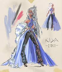 Disney Princess, Kida, Design Sketch