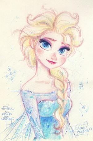 Elsa drawings ❄️