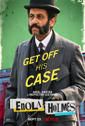 Enola Holmes (2020) Poster - Adeel Akhtar as Inspector Lestrade