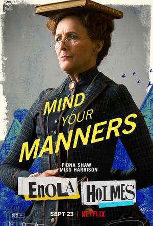 Enola Holmes (2020) Poster - Fiona Shaw as Miss Harrison