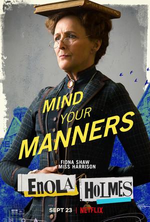 Enola Holmes (2020) Poster - Fiona Shaw as Miss Harrison