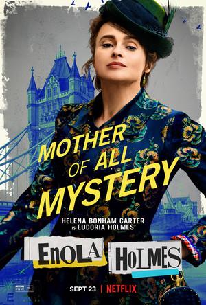 Enola Holmes (2020) Poster - Helena Bonham Carter as Eudoria Holmes