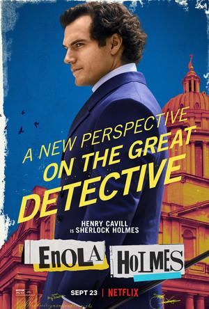 Enola Holmes (2020) Poster - Henry Cavill as Sherlock Holmes