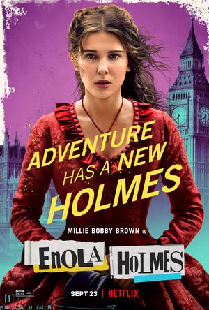 Enola Holmes (2020) Poster - Millie Bobby Brown as Enola Holmes